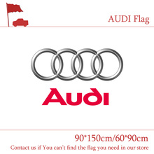 Free shipping 90*150cm/60*90cm Black White AUDI Flag Banner Car Flag