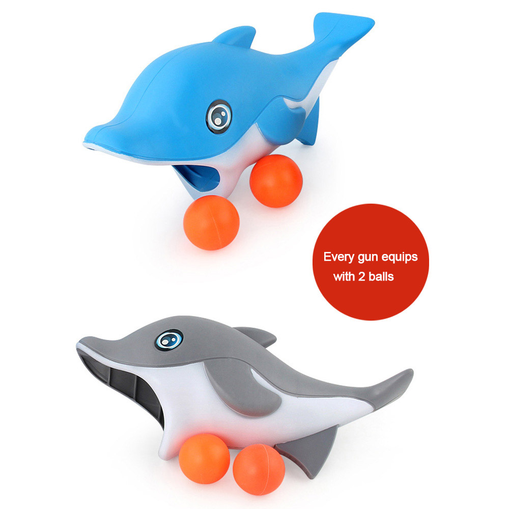 Kids Outdoor Ball Game Cartoon Dolphin Catch And Throw Sports Childrens Toys Interaction Throwing Flat Throw Ball