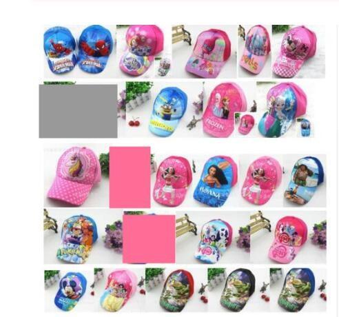 1pcs cartoon mickey minnie Trolls moana mix boy girl  Fashion Sun Hat Mario Casual Cosplay Baseball Cap children gifts MZ-01(China)
