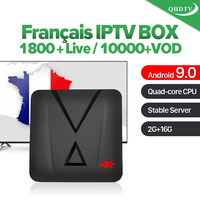 IPTV Arabic France MX10 mini Android 9.0 4K 3D 2GB 16GB Arabic QHDTV 1 Year Code IPTV Subscription Italy UAE Spain IP TV