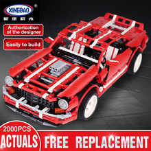 XingBao 07001 Creative MOC Series The 2014 Muscle Car Compatible LegSet Technic Educational Building Blocks Bricks Toys Gifts