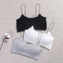 New Women Sexy Lingerie Girls Camisoles Tanks Padded Crop Tops Seamless for