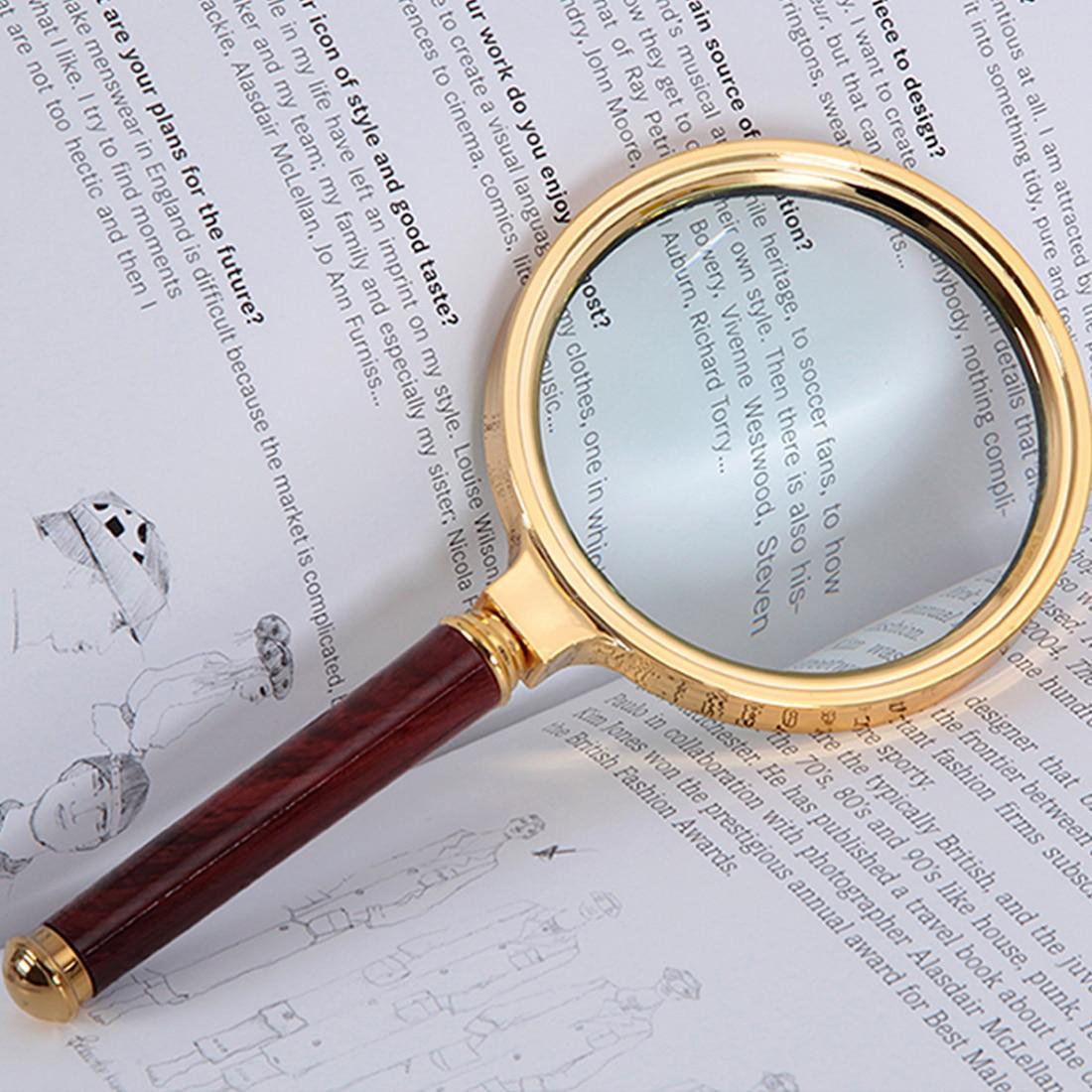 Handheld Magnifier 80mm 10X Reading Eye Loupe Magnifying Glass Magnifier for Reading Jewelry Magnifying Glass цена