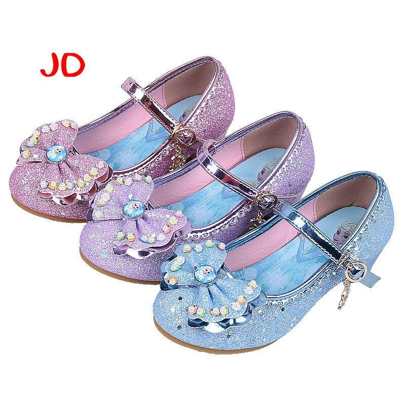 High-heeled Girl 2018 Spring Girls Children Slippers Kids School For Dance Shoe Princess Shoe Fashion Baby Sneakers