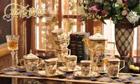 New Coffee cup set European style Tea set Ceramic Coffee Pot Cups Saucers