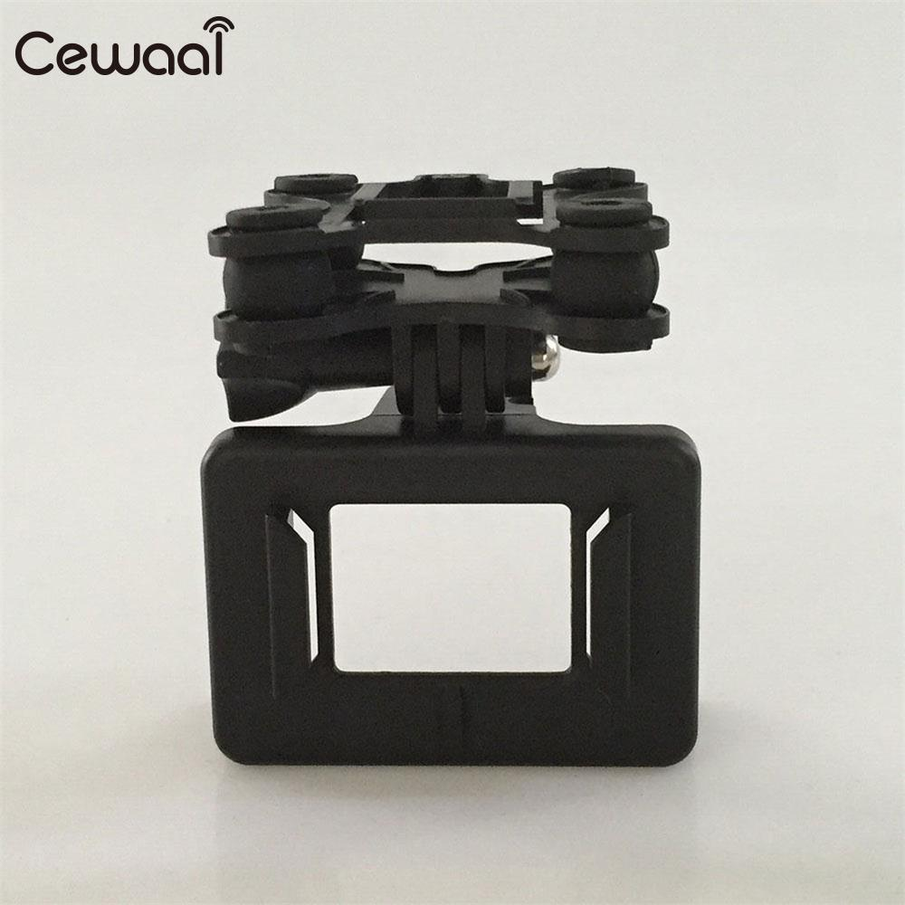 Cewaal Universal Gimbal Mount With Camera Holder Mount For Syma X8C RC Quadcopter Drone Quadcopter Spare Helicopter Part Black