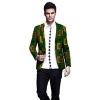 African print casual slim fit men's suit jacket male new slim Ankara blazer jacket men wedding coat dashiki suit tops