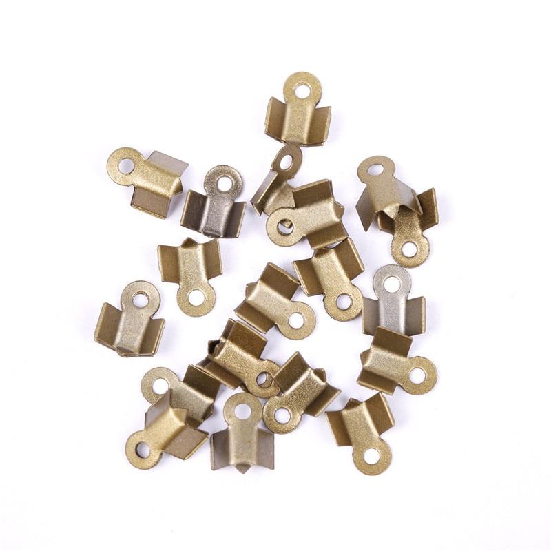 Barril de latón casquillos de extremo mezclado 7mm 30 PC resultados bricolaje artesanías de fabricación de joyas