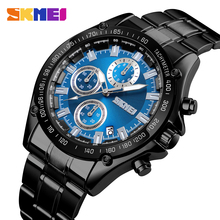 SKMEI Quartz Watch Men Stainless Steel Strap Waterproof Watches Date Clock Man Fashion Casual Sport Watch relogio masculino 1393 paidu sport simple men watch casual man s wristwatches quartz fashion modern leather stainless steel strap male clock hour time
