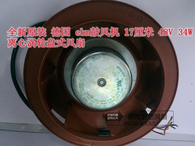 NEW EBM 17CM R1G175-AB41-02 48V 34W centrifugal turbine disc fan