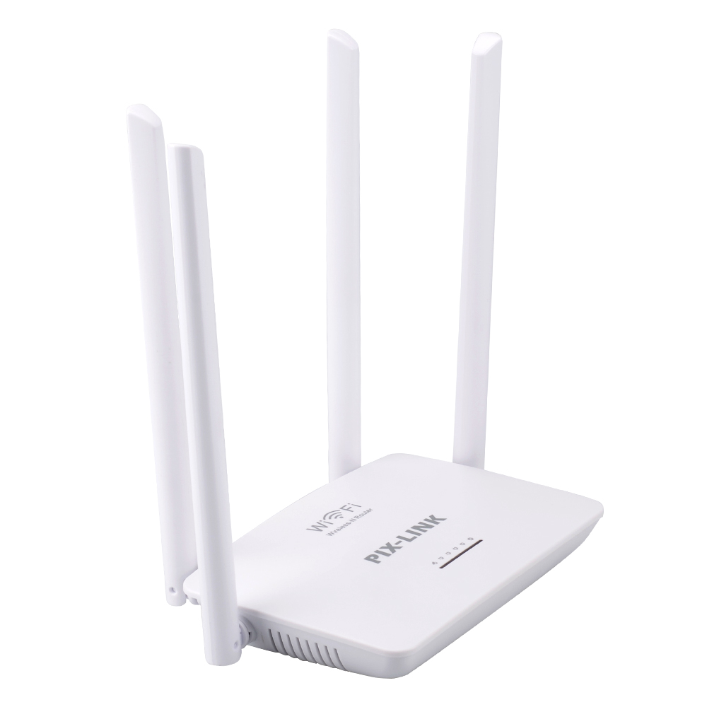 300Mbps Wireless WiFi Router PIXLINK WR08 English Firmware Wi-fi Repeater Booster 5Ports RJ45 802.11N Easy Setup for Home White