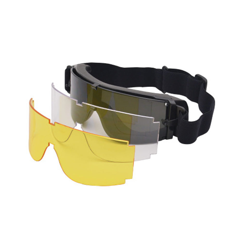 Tactical Glasses X800 Tactical Cycling Eyewear Game Safety Goggles Wind-proof 3 Lens Goggles Sunglasses Men Military Sun Glasses