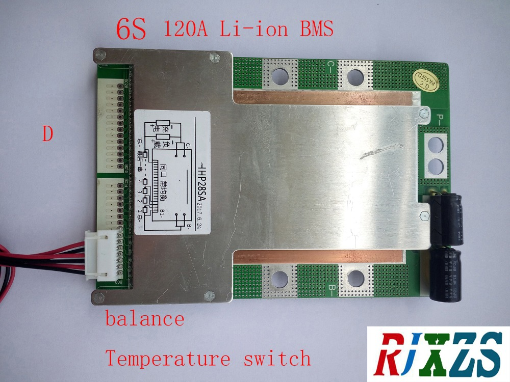 6S 120A version D lipo lithium Polymer BMS PCM PCB battery protection board for 6 Packs