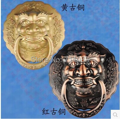 Handle Antique lion head door knocker large Chinese unicorn beast handle diameter 28CM купить в Москве 2019