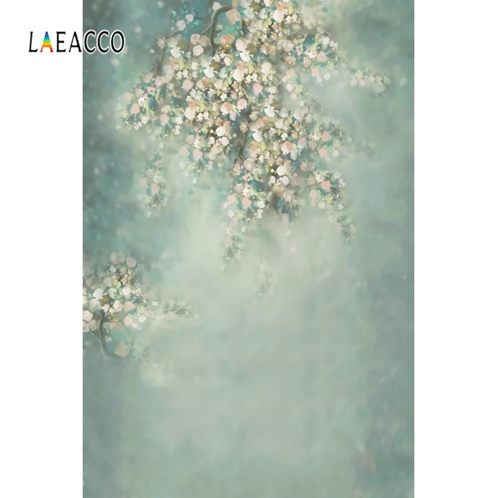 Laeacco bebê recém-nascido flor país das maravilhas floret nebuloso bokeh retrato foto pano de fundo fotográfico fundos photocall photo studio
