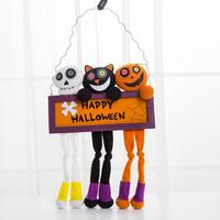 Halloween Props Suspension Label Accessories HAPPY HALLOWEEN Door Window Party Decorate Cute Ornament Drop Shipping Ap814