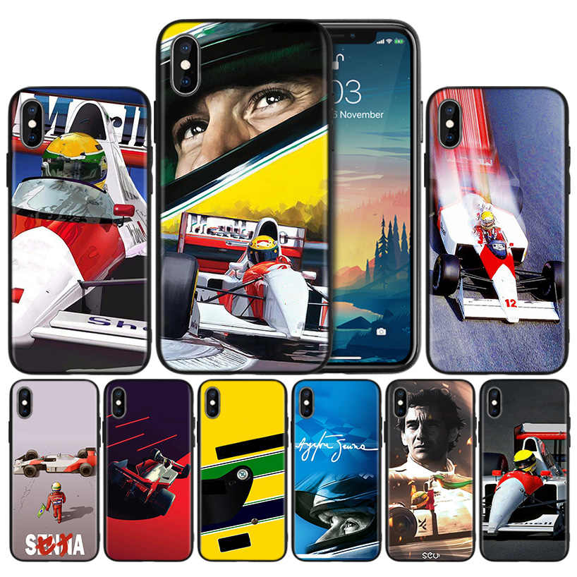 Ayrton Senna Weiche Anti-knock Silikon Fall Abdeckung für iPhone X XS XR XS 11 11Pro Max 7 8 6 6S 5 5S SE 2020 Plus Fundas Capa Fall