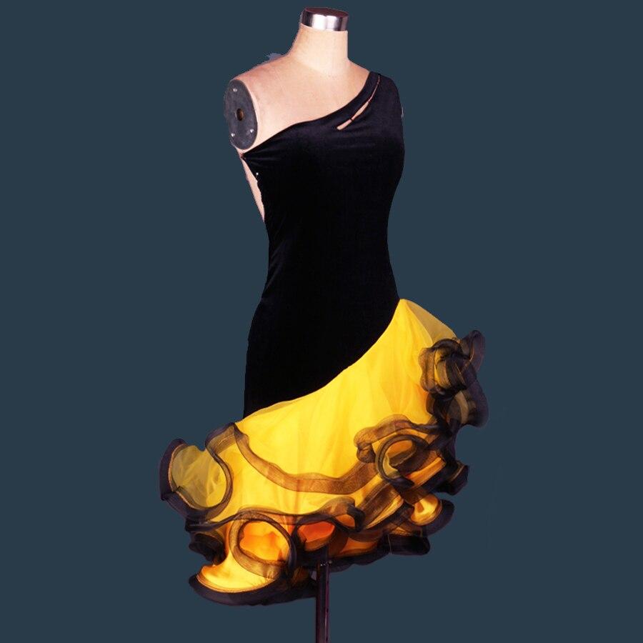 2019 Girls/Lady Latin Dance Dress Adult/Children Customize-Size Velvet Skirt Cha Cha/Rumba/Samba/Tango/Vestido JDQ30311