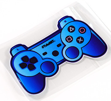 High quality For Game handle blue car Reflective sticker and decals modified accessories