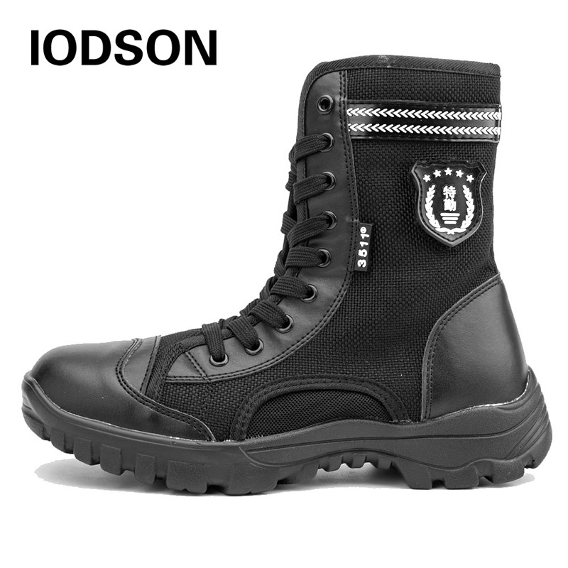 Basic Boots Ids852 Black Special Force Army Shoes Breathable Mens Military Desert Tactical Boot Lightweight Combat Ankle Boots Shoes