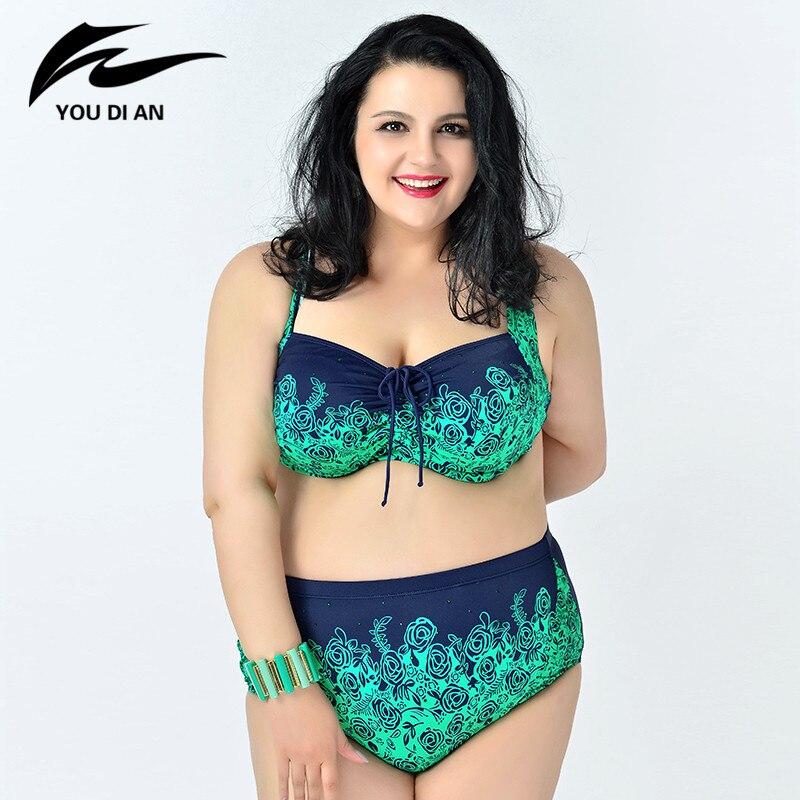 ФОТО Plus Size Swimwear 2017 New Style Hot Sale Swimwear Woman Sexy Bikini Set Ladies Swimsuit Retail Summer Style Woman Bathing Suit
