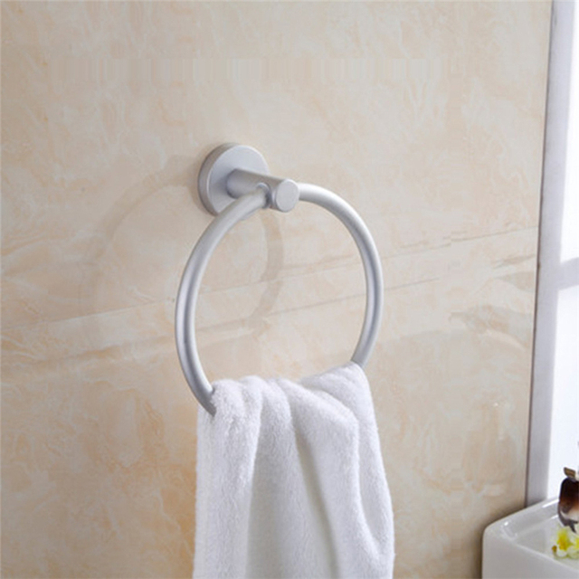 Household Bathroom Towel Shelf Aluminum Round Style Wall Mounted ...