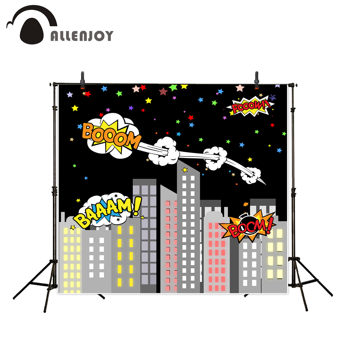 Allenjoy photographic background Sky colored bomb boom night backgrounds for photo studio photography backdrops wallpaper
