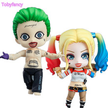 ФОТО Suicide Squad Nendoroid Action Figure Joker Harley Quinn PVC Anime Movie Suicide Squad Nendoroid Collectible Model Toy 100mm
