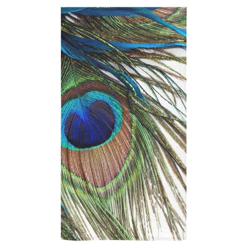 Bath Towel Sets Feather: Memory Home Peacock Feather Custom Towel Beach Bathroom