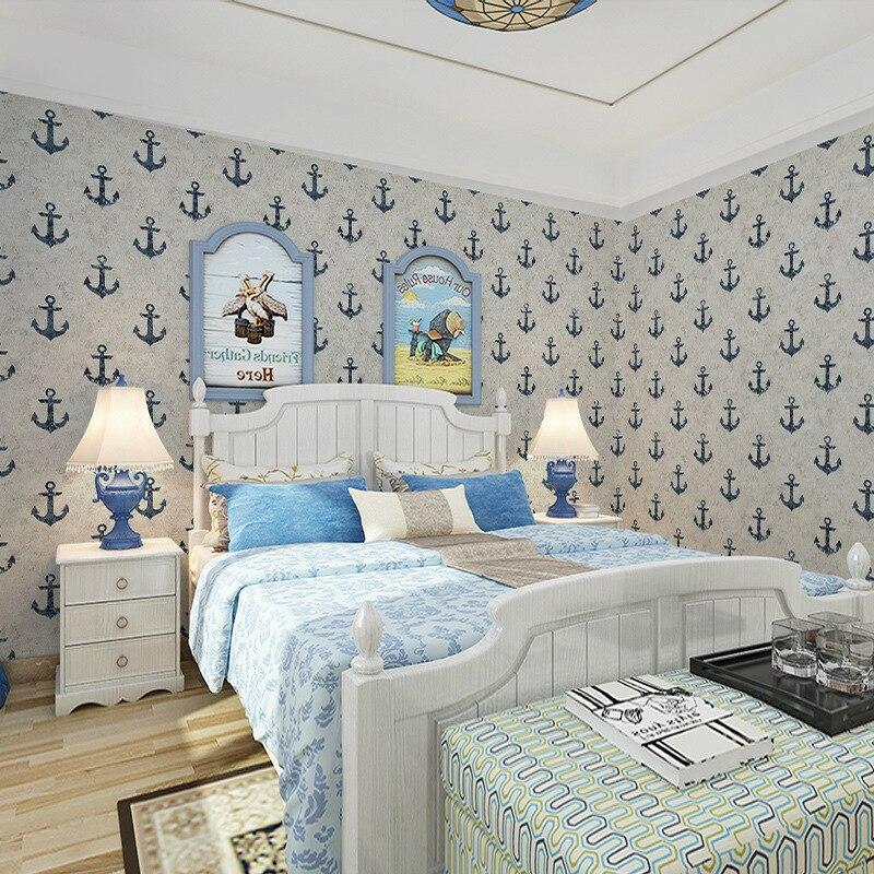 Beibehang style européen minimaliste style méditerranéen papier peint fond TV mur chambre d'enfants décoration 3d papier peint