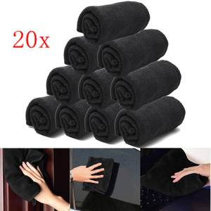 Polishing Wash-Towels Microfibers Car-Care Detailing-Cleaning Black Home-Window Soft-Cloths
