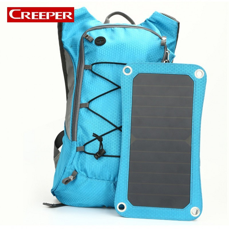 New Sport Cycling Water Bag Outdoor Solar Panel USB Charger Bicycle Hydration Backpack For Mobile Phone Camping Travel Knapsack tuv portable solar panel 12v 50w solar battery charger car caravan camping solar light lamp phone charger factory price