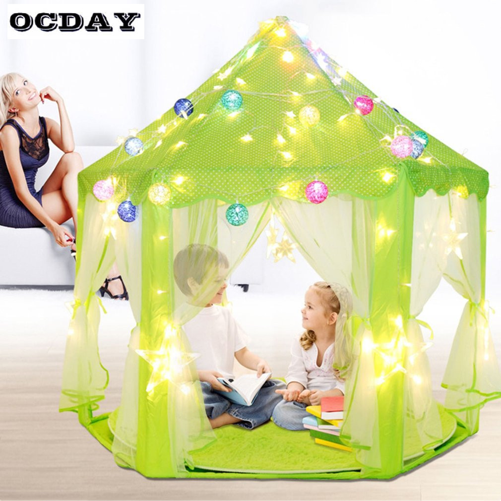 Kids Play Tent Us 32 09 35 Off Foldable Children Kids Play Tent Large Space Waterproof Solid Color Children Castle Cubby Play House Props For Photography Gifts In