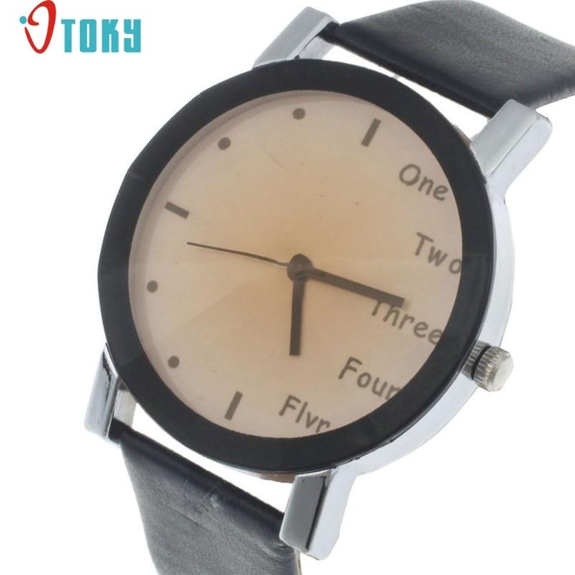 Excellent Quality OTOKY Reloj Mujer Women Watches Quartz Watch Top Fashion Female Clock PU Leather Quartz-watch Relogio Montre