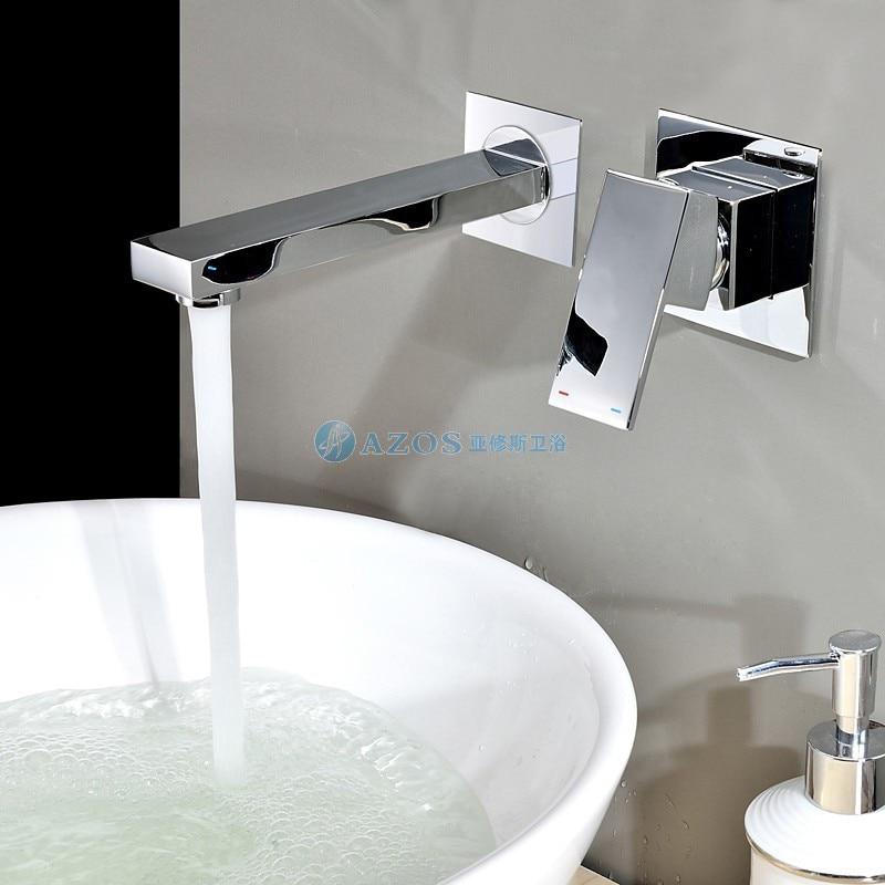 Contemporary Chrome Finish Wall Mount Bathroom Sink Faucet Puer copper MPAZ028A [grandness] 1501 yunnan menghai dayi puer 8592 puer chi tse beeng ripe pu erh pu tea genuine certified menghai 8592 tea 357g