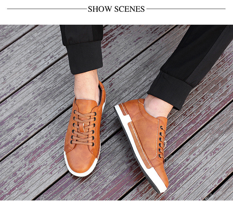 Gentlemans Luxury Leather Shoes Men Sneakers Men Trainers Lace-up Flat Driving Shoes Zapatillas Hombre Casual