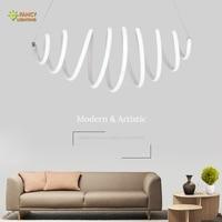 Nordic Luminaire Suspendu Spiral Silica gel Pendant Light for Kitchen/Dining Room/Home/Bar decor With Light Source Hanging light