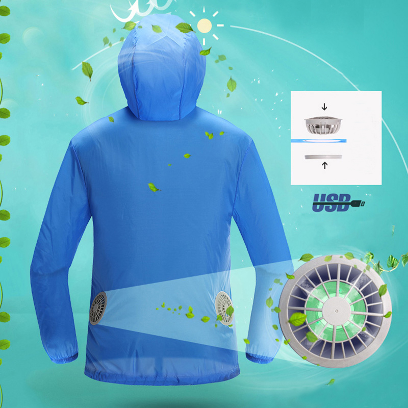 Air Conditioning Clothes  Fan Cooling Jacket Outdoor High Temperature Working Fishing Hunting Cooling Sun Protection Clothing air conditioning