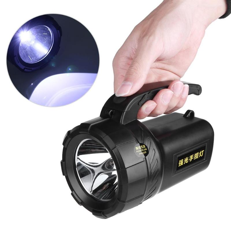 Rechargeable Flashlight Led Spotlight Convenient Searching Lamp Super Bright 500 Meters Torch for Outdoor Emergency Lamp lumintop super bright searching flashlight odl20c max beam distancse 860 meters usb type c quick charge 26650 battery