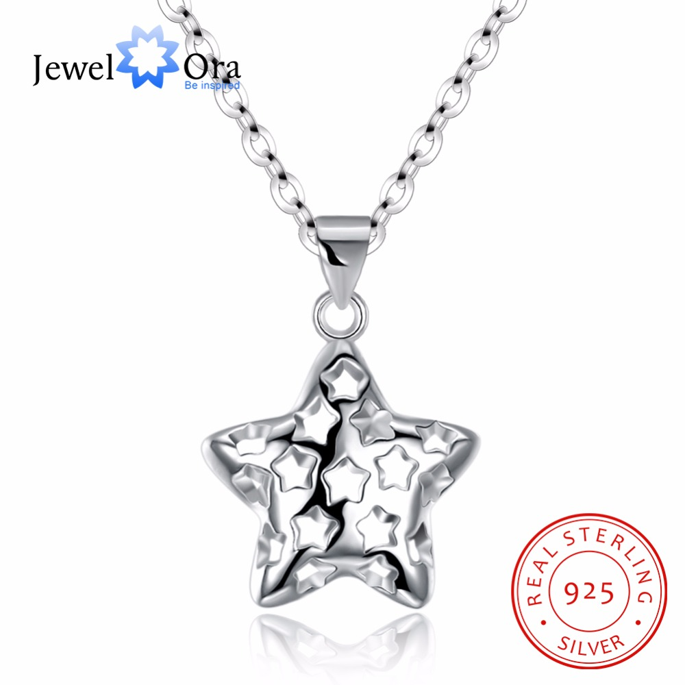 necklace zirconia sterling paved inch diamond cubic clasp silver closure shape w singapore shining spring original cz products genuine chain with star ring pendant