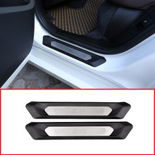 Для BMW X3 G01 2018 2019 автомобилей заднего ряда порога защиты крышки Накладка для BMW X4 G02 2018 2019 автомобильные аксессуары 2 шт.