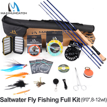 Maximumcatch Maxcatch Saltwater Fly Fishing Full Kit 2.7M Fly Fishing Rod 8-12wt CNC-machined Aluminum Fly Reel александр радищев вольность