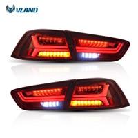 Vland Автомобиль Стайлинг для Mitsubshi Lancer задний фонарь 2008 светодио дный 2017 светодиодный задний свет красный объектив сигнальный свет автомобил