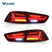 Vland автомобильный Стайлинг для Mitsubshi Lancer задний фонарь 2008 2017 светодиодный задний свет красный объектив сигнальный свет комплект для освещен