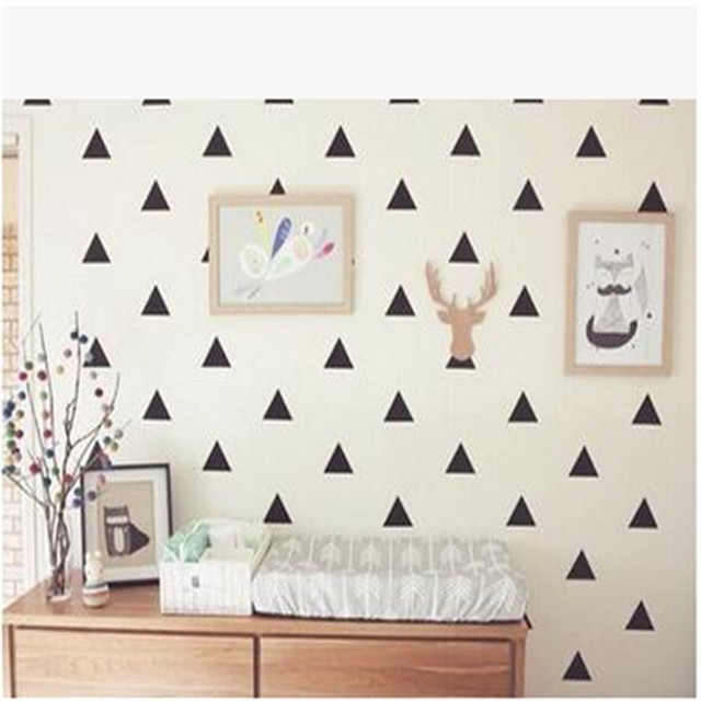 DIY Geometric Wall Sticker Home Decor Baby Nursery Wall Decals For Kids  Room Modern Geometric Children