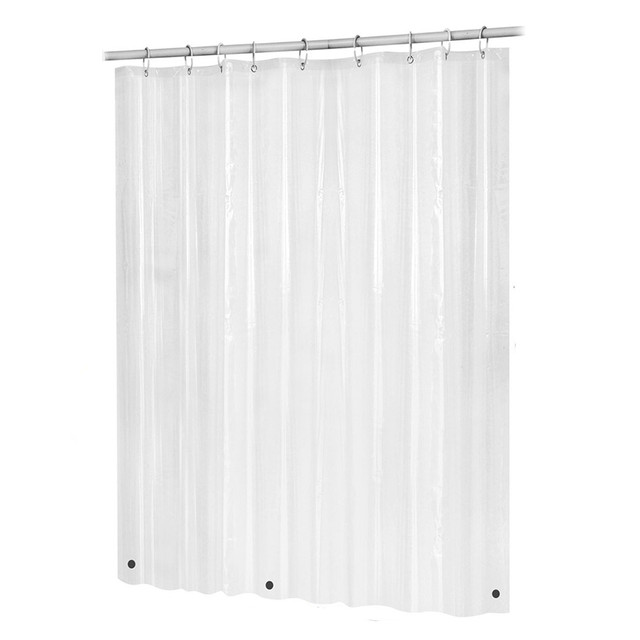 Bath Shower Curtain Liner Clear Non Toxic Mold Resistant Waterproof Bathroom Transparent KK4