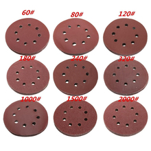 10pcs 125mm 5 Hook Loop Sanding Discs 8