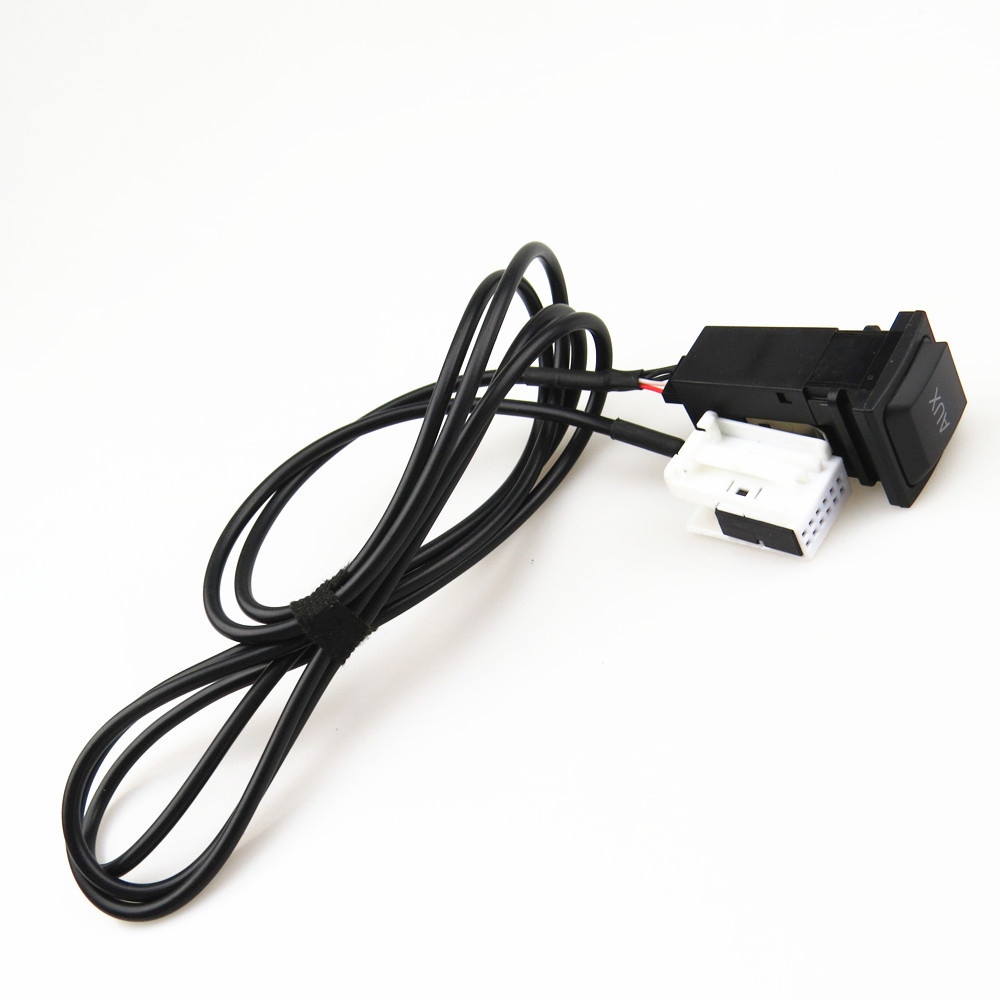 ZUCZUG 1 Set AUX Switch Plug Adapter + Connection Harness Cable Pigtail For RCD 510 RNS 315 VW Scirocco Jetta 5 Golf 5KD035724A