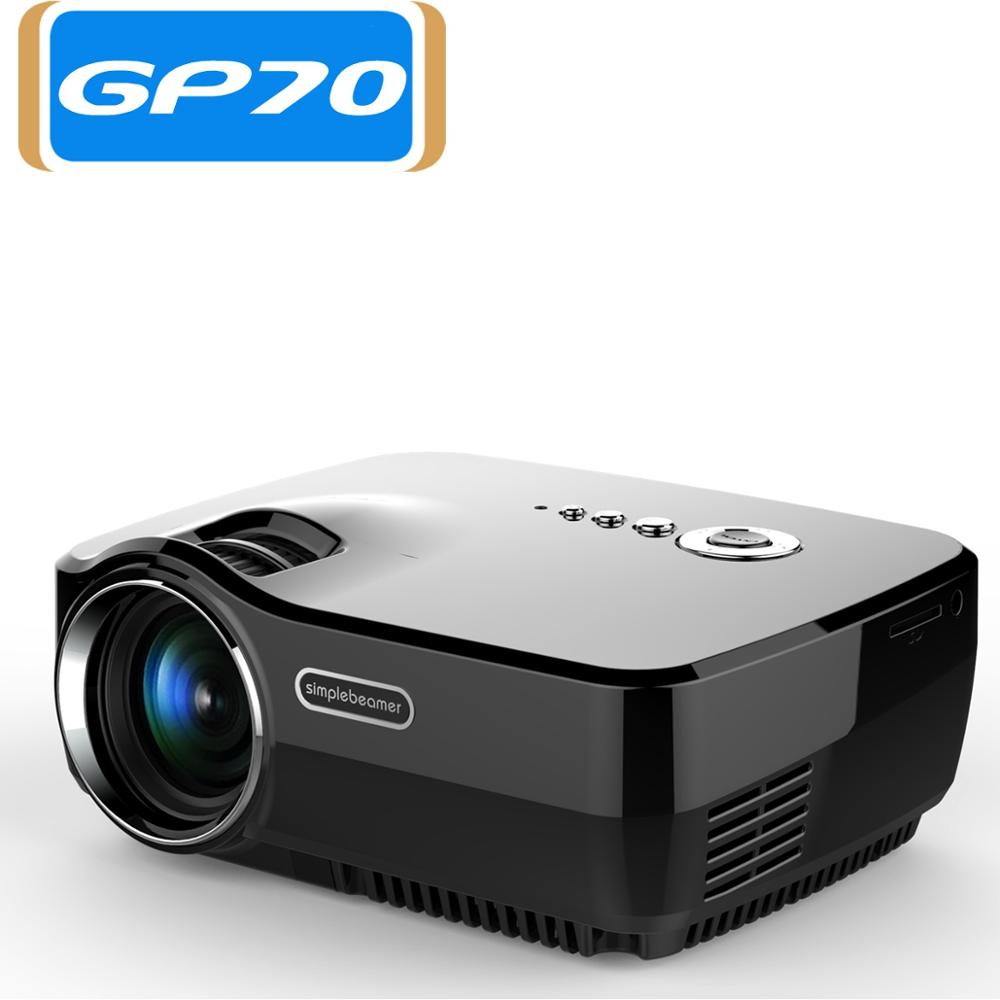 Simplebeamer mini led gp70 projector support full hd 1080p for Hd projector small