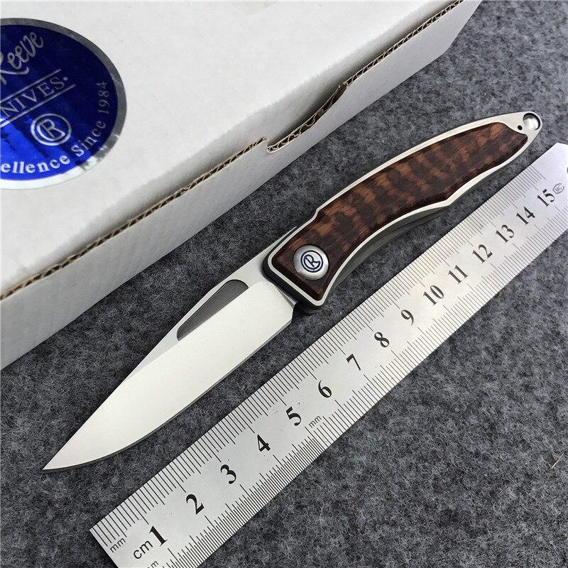 Magic Mnandi M390 Blade snake wood TC4 Titanium handle folding font b knife b font Copper